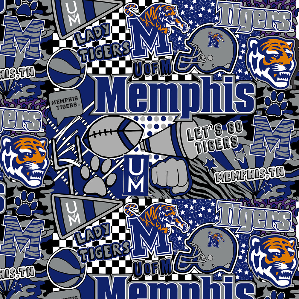 MEMPHIS UNIVERSITY-1165 Cotton / ARTWORK BY COREY PAIGE