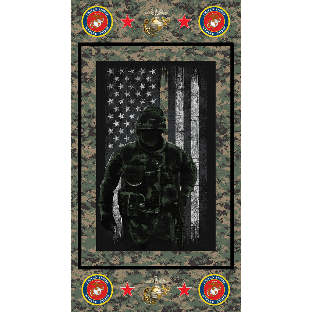 MILITARY MARINES COTTON PANEL