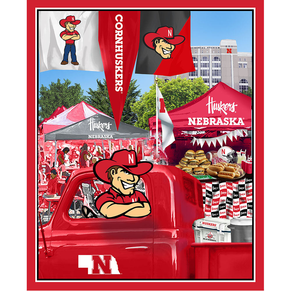 UNIV. OF NEBRASKA-1157 Tailgate Cotton Panel