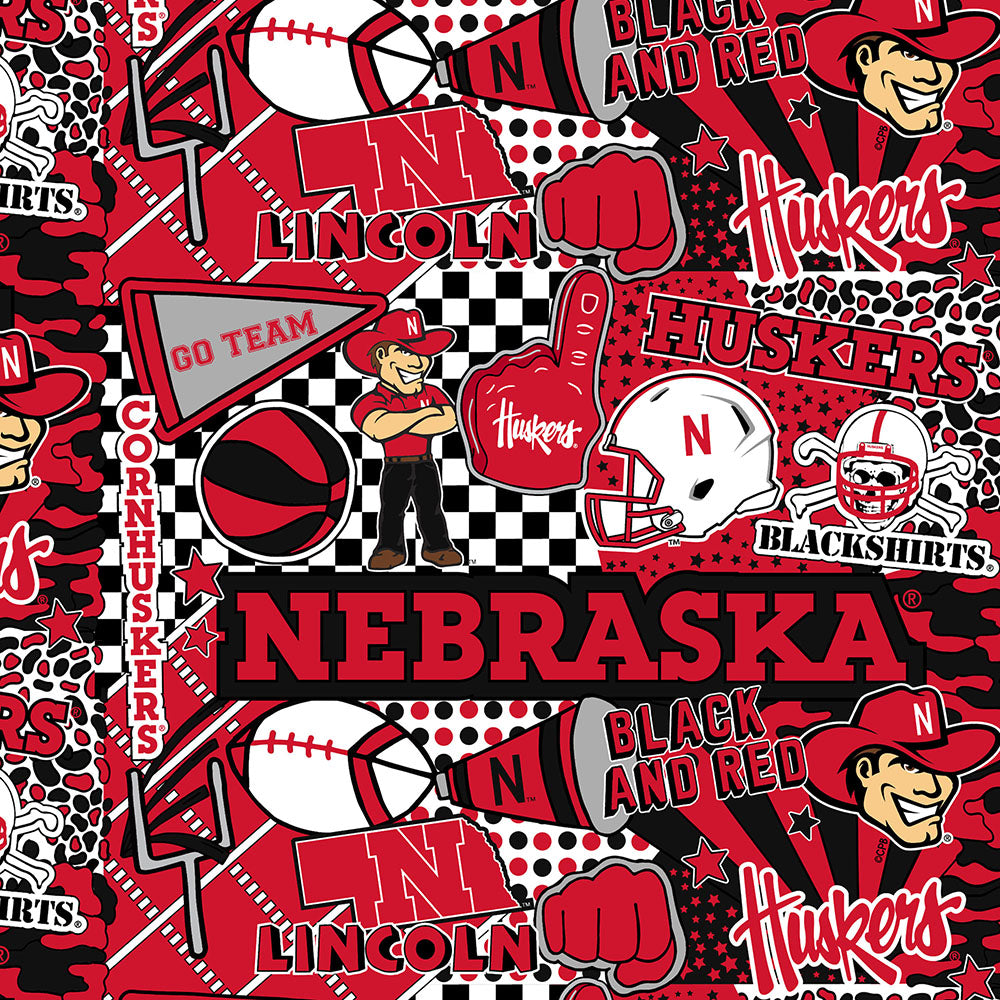 UNIV. OF NEBRASKA-1165 Cotton / ARTWORK BY COREY PAIGE