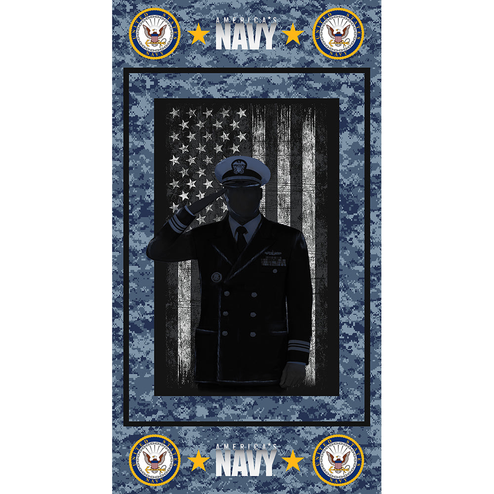 MILITARY NAVY COTTON PANEL-1195N Cotton