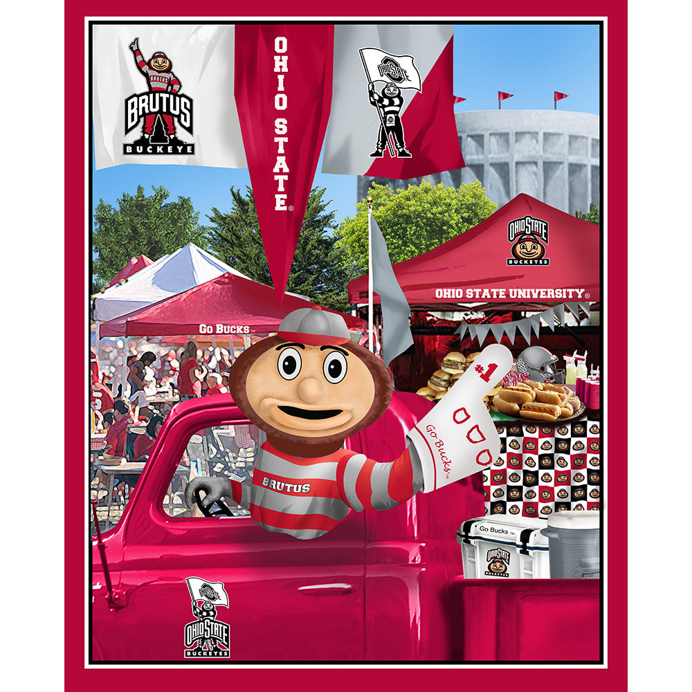 OHIO STATE UNIVERSITY-1157 Tailgate Cotton Panel