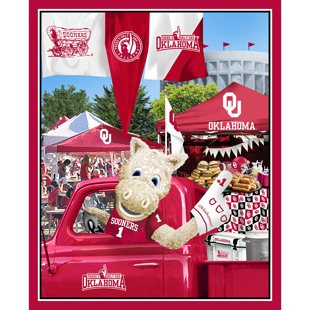 UNIV. OF OKLAHOMA-1157 Tailgate Cotton Panel