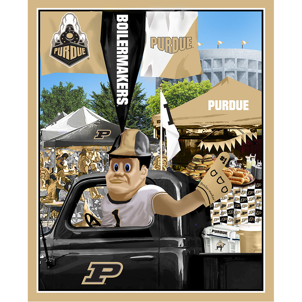 PURDUE UNIVERSITY-1157 Tailgate Cotton Panel