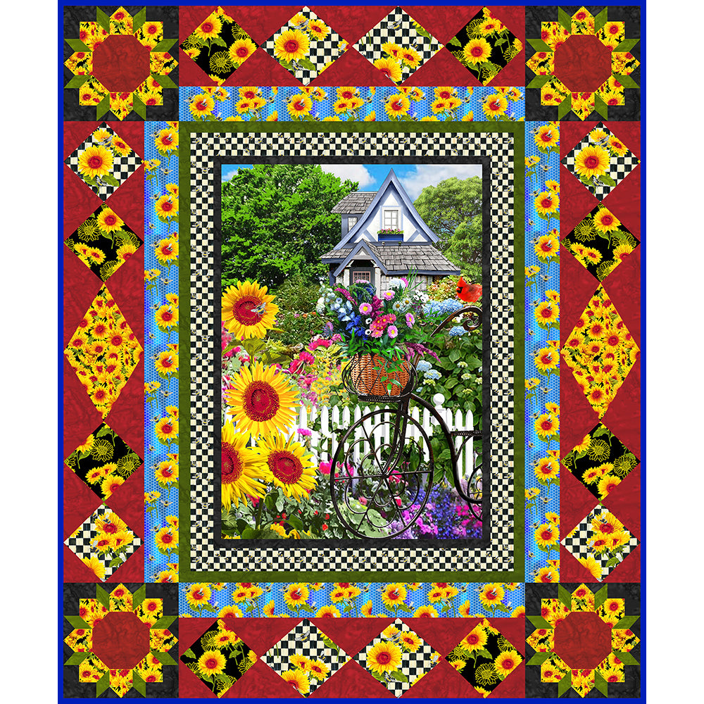 SUNFLOWERS QUILT INSTRUCTIONS