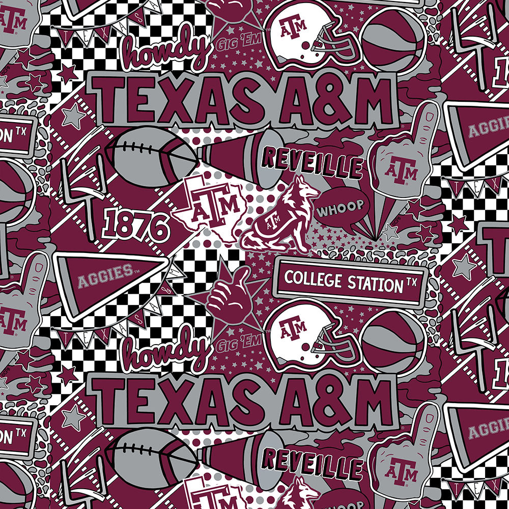 TEXAS A&M UNIVERSITY-1165 Cotton / ARTWORK BY COREY PAIGE