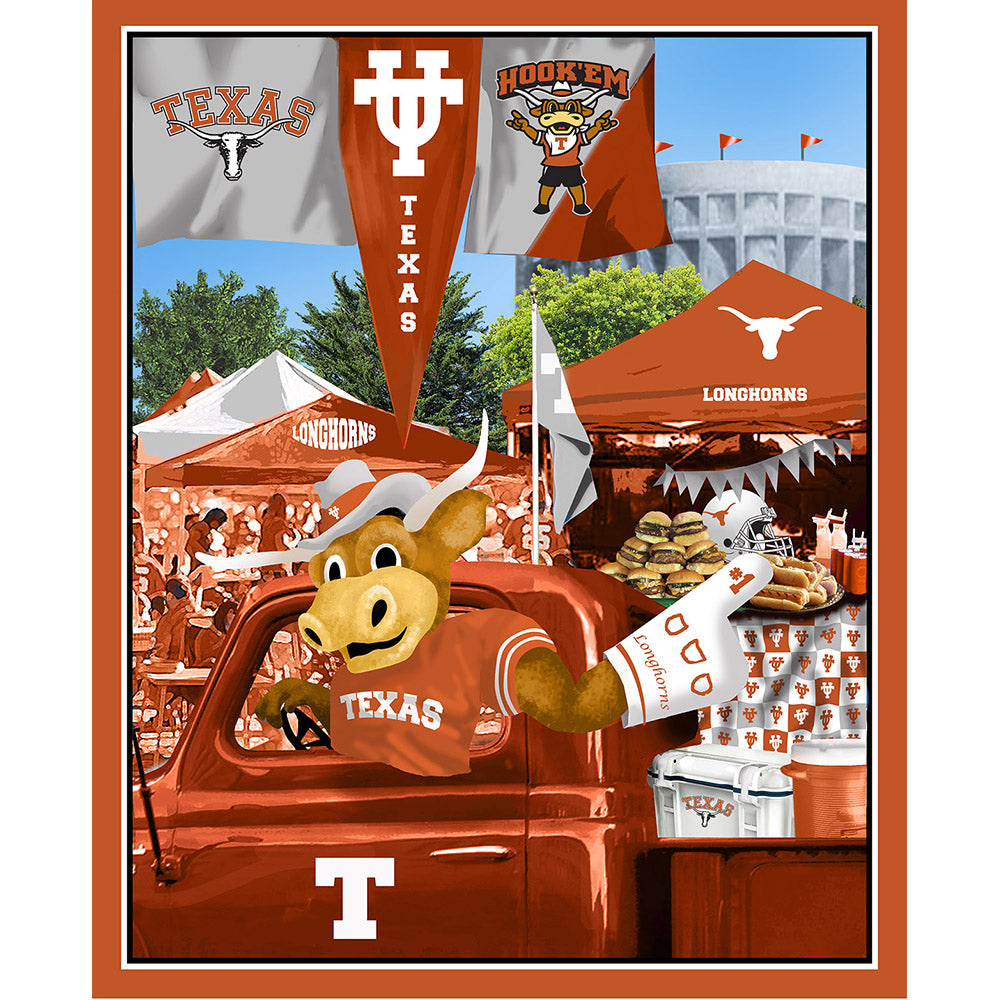 UNIV. OF TEXAS-1157 Tailgate Cotton Panel