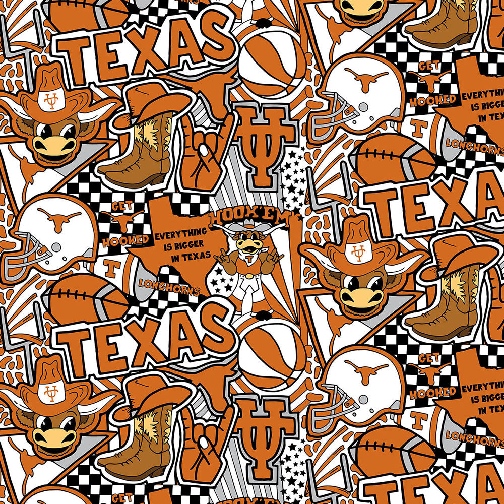 UNIV. OF TEXAS-1165  Cotton / ARTWORK BY COREY PAIGE