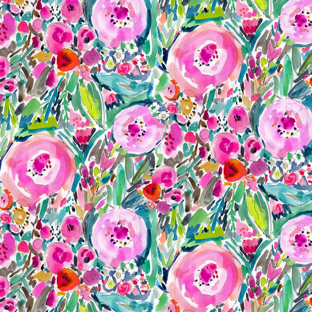 THE FLOWERED GARDEN-10226 Cotton