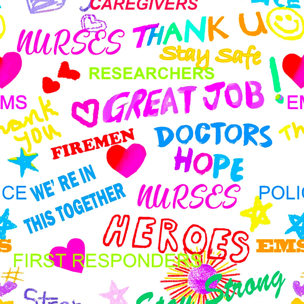 THANK YOU HEROES-10349 White Cotton