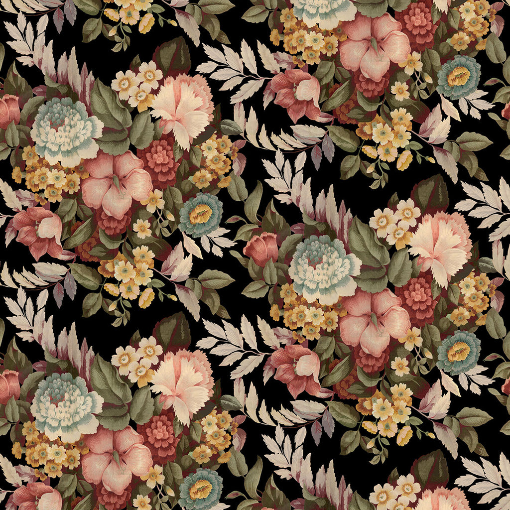 10232 BLACK FLORAL Cotton