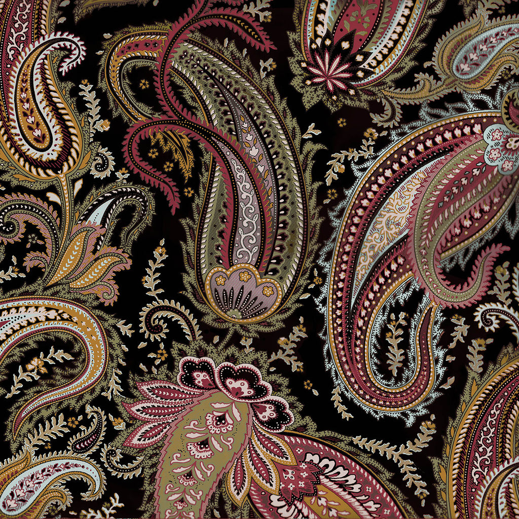 10233 BLACK PAISLEY Cotton