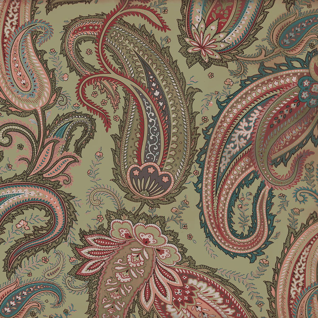 10233 SAGE PAISLEY Cotton