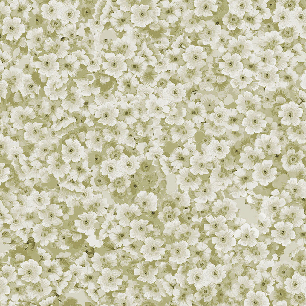 Packed Floral-10236 Sage Cotton