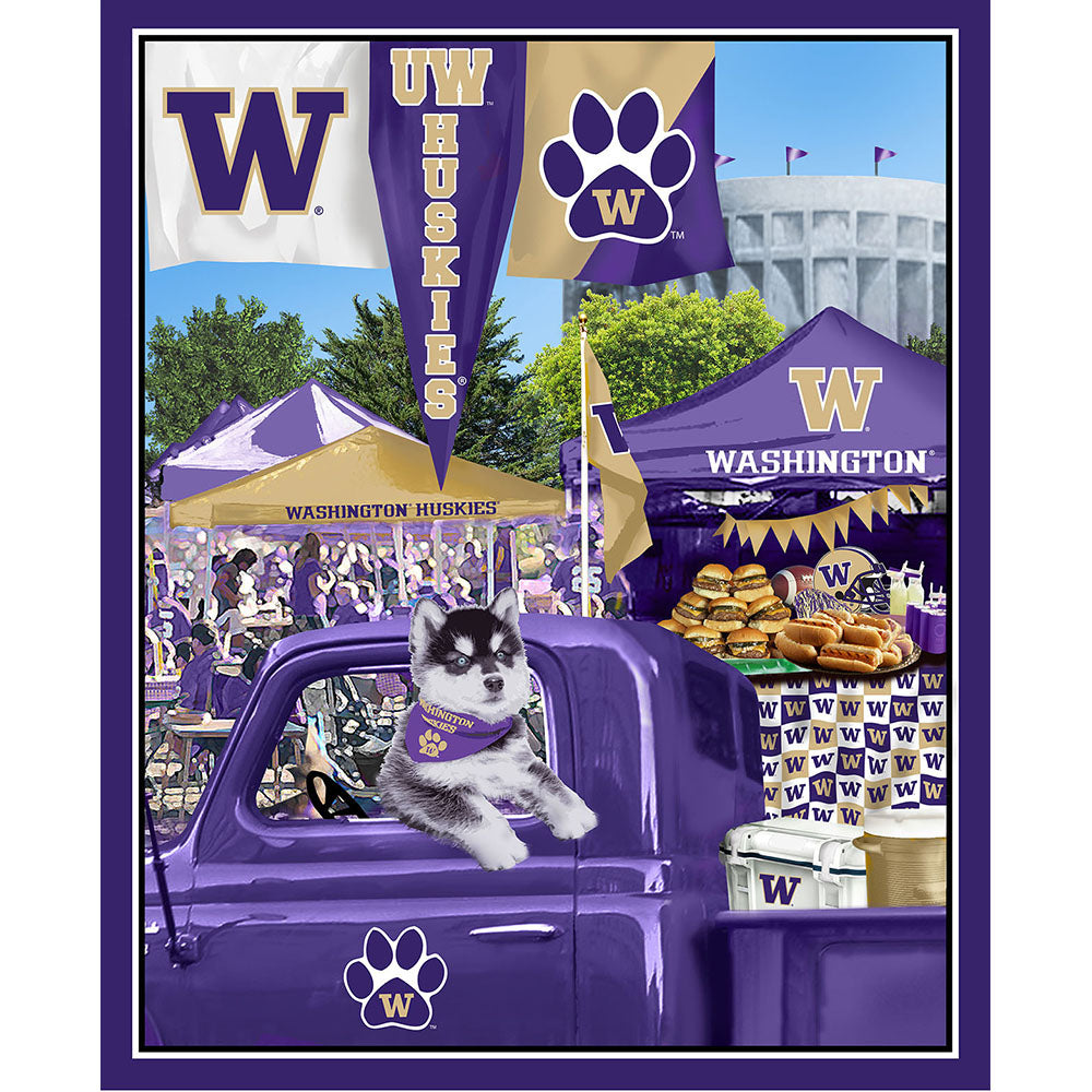 UNIV. OF WASHINGTON-1157 Tailgate Cotton Panel