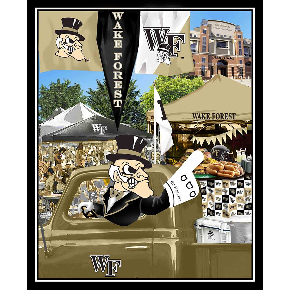 WAKE FOREST UNIVERSITY-1157 Tailgate Cotton Panel