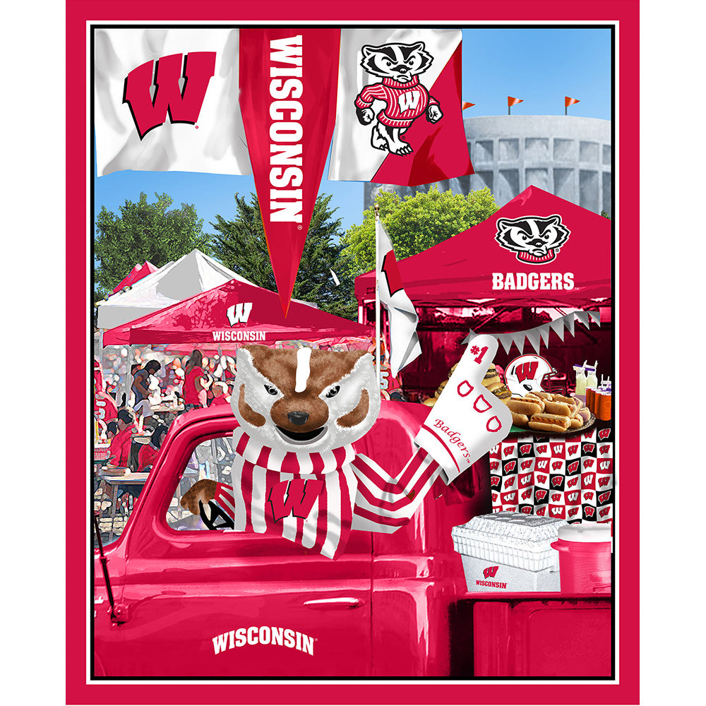 UNIV. OF WISCONSIN-1157 Tailgate Cotton Panel