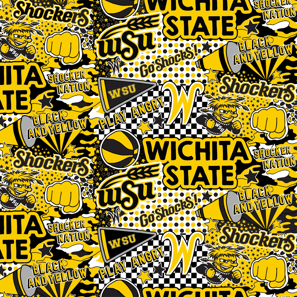WICHITA STATE UNIVERSITY-1165 Cotton / ARTWORK BY COREY PAIGE