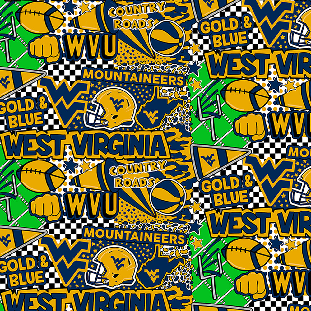 WEST VIRGINIA UNIVERSITY-1165 Cotton / ARTWORK BY COREY PAIGE