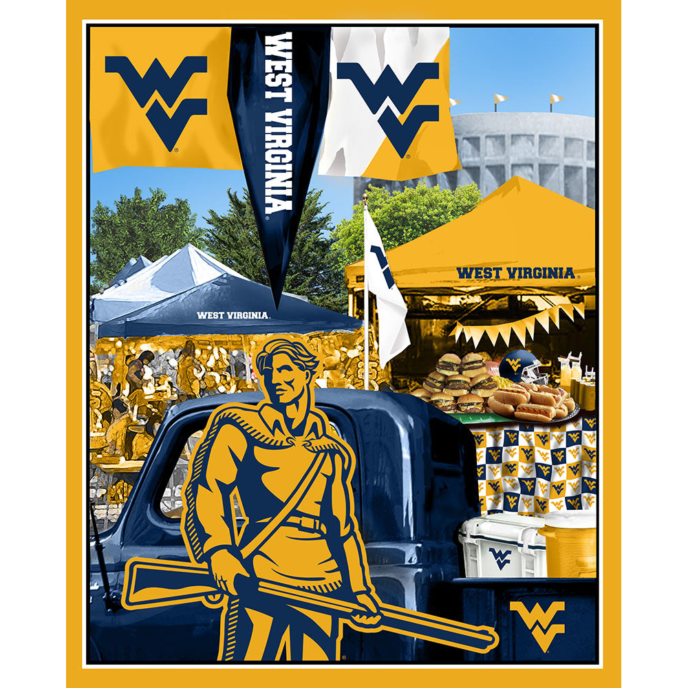WEST VIRGINIA UNIVERSITY-1157 Tailgate Cotton Panel