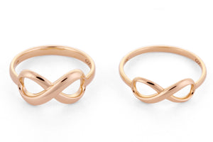 infinity rings gold