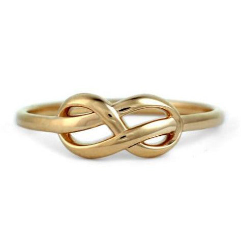 Infinity knot ring 14k yellow gold promise ring