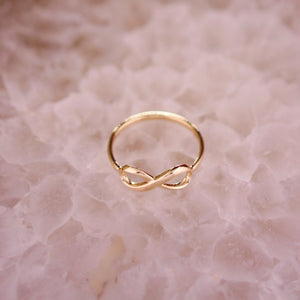 Infinity Ring 14K Gold Promise Ring