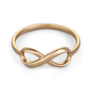 infinity ring solid gold