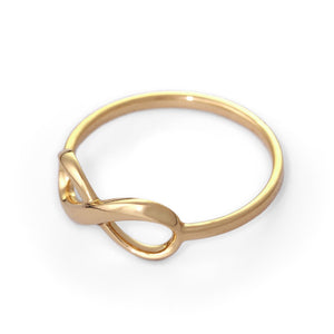 14k gold infinity ring, promise ring, love ring