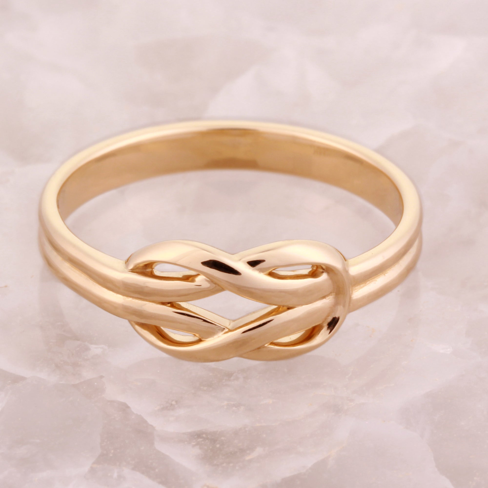 Infinity Knot Ring In 14k Gold Infinity Rings G D Unique Designs