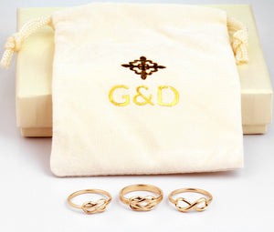 Infinity Knot Ring in 14K Gold