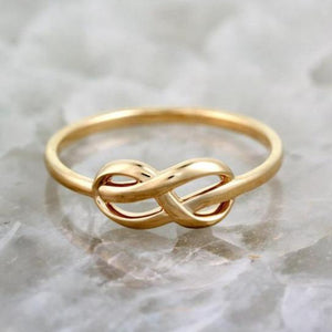 infinity knot promise ring in 14k gold