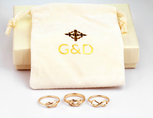 solid gold infinity promise rings collection
