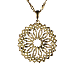 Lotus Pendant in 18K Yellow Gold