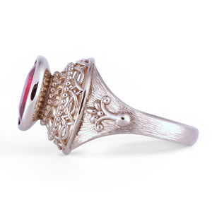 Rhodolite Ring in 14K White Gold