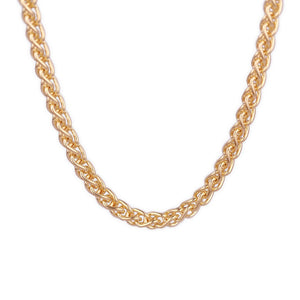 18k Yellow Gold Spiga (Wheat) Chain