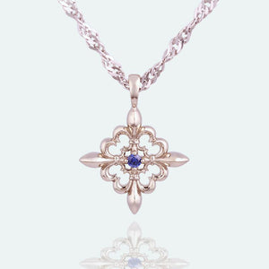 Gift-for-her_Best-gift_gold_sapphire-pendant
