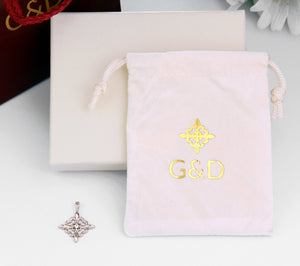 G&D Unique Designs Jewelry packaging with diamond gold pendant