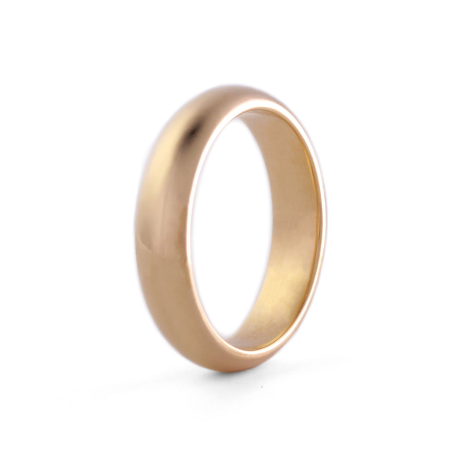 comfort fit 4mm wedding ring 14k yellow gold