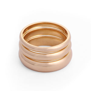 classic wedding rings 18k yellow gold 2mm, 3mm, 4mm