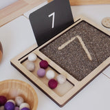 Wooden Sand and Compartment Tray