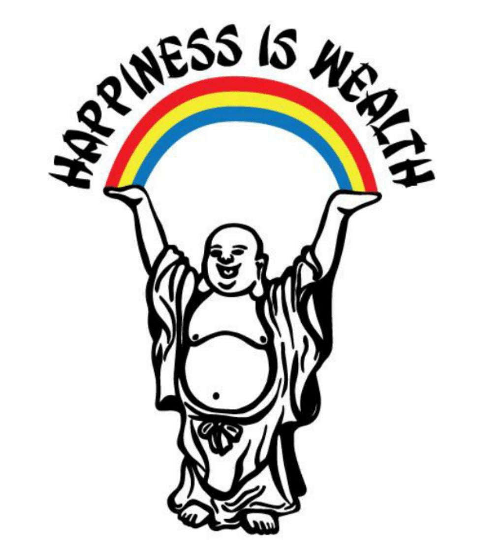 happiness is wealth happy buddha