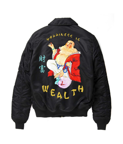 HisW Happiness Buddha Bomber Black