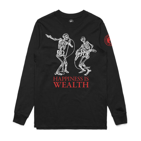Wealth Skeleton LS Tee Black