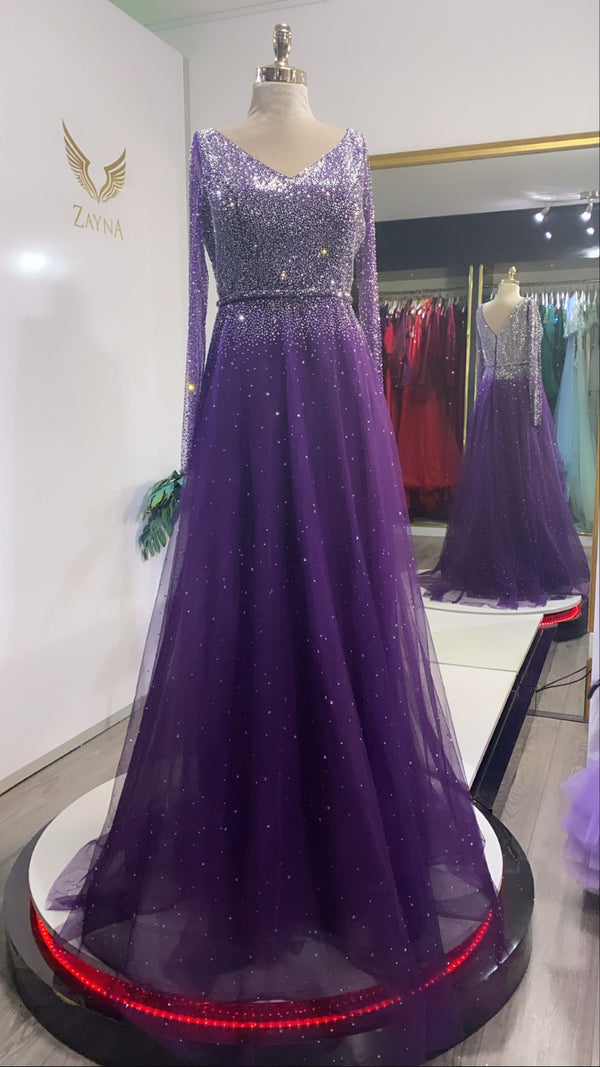 Purple elegant dress