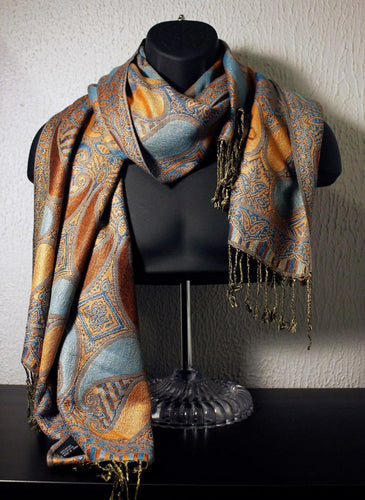 Paisley - Orange/Teal