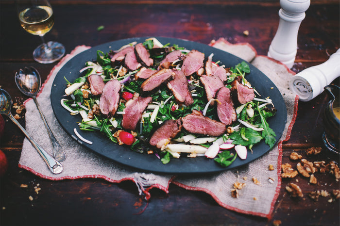 Cider and Maple Magret Duck Breast Salad
