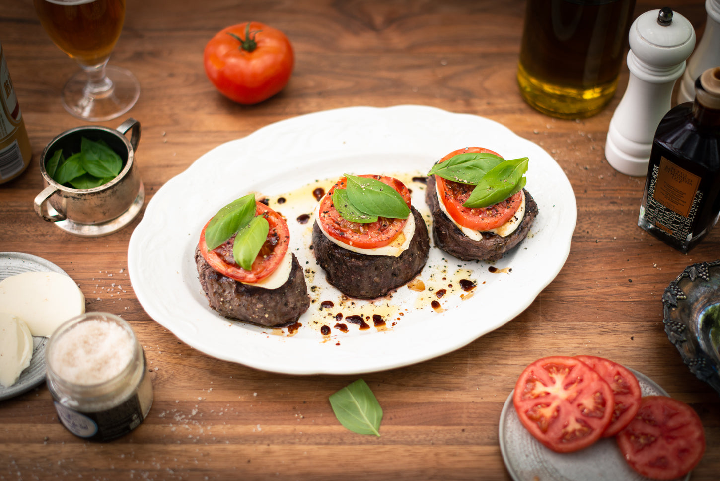 Caprese Grilled Filet Mignon