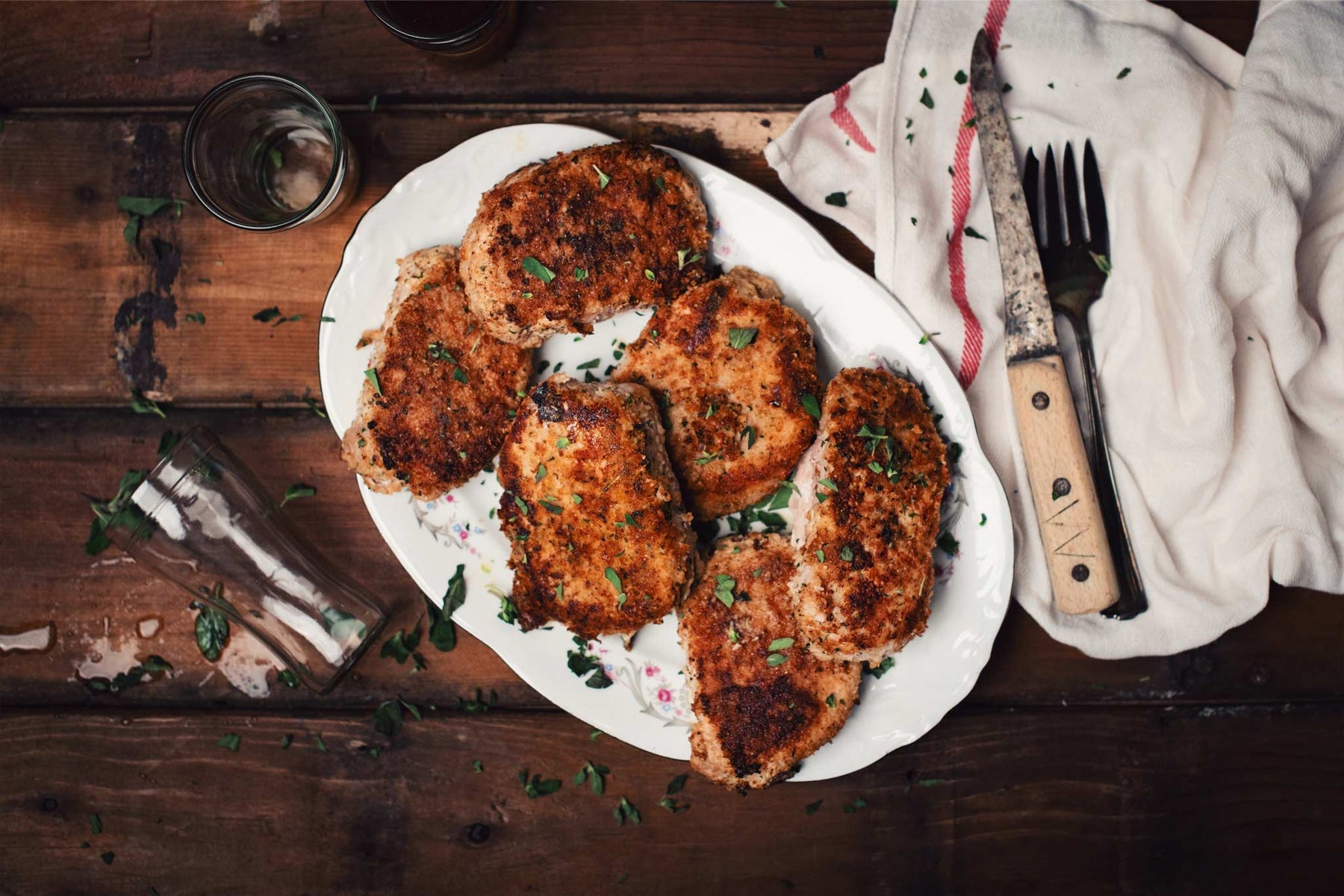 pork chops with parmesan crust