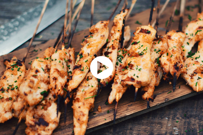 Chicken Satay with Asian Peanut Sauce (VIDEO)